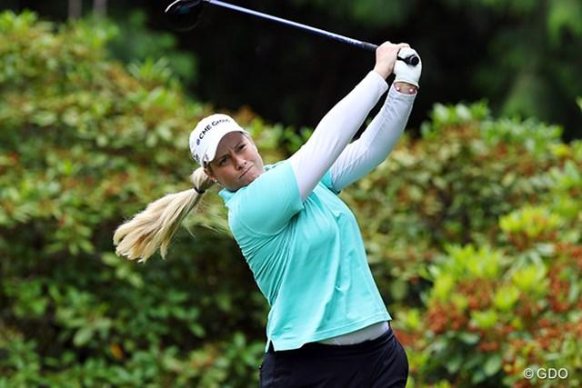 2016年 KPMG女子PGA選手権 3日目 ブリタニー・リンシコム 最終日、1打差2位で最終組でプレーするリンシカムのボーイフレンドは身長190センチ以上もあるドラコン選手だ