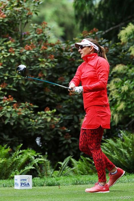 全身燃える赤! 2016年 KPMG女子PGA選手権 最終日 ブリタニー・ラング