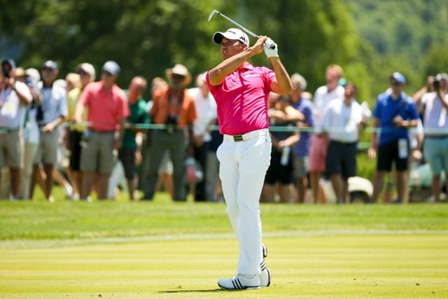 開幕直前の体調は万全でないながらも、デイは世界一の選手としてメジャー2勝目を狙う(Copyright USGA/Darren Carroll)