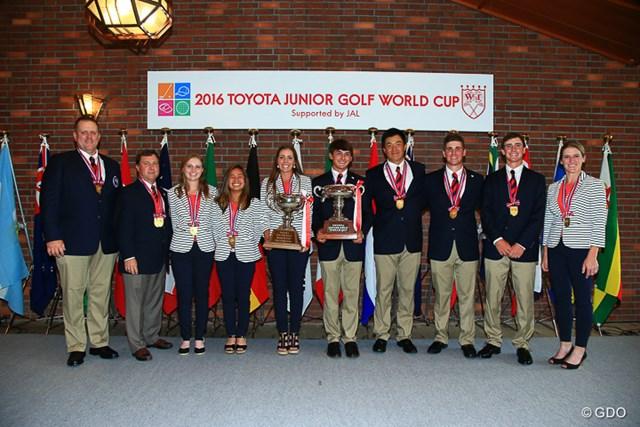 2016年 トヨタジュニアゴルフワールドカップ Supported by JAL 最終日 アメリカチーム 団体戦で男女アベック優勝を果たしたアメリカチーム