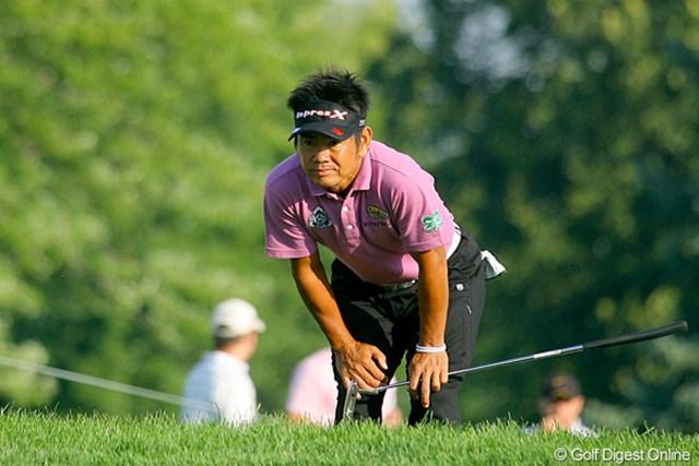 全米プロ初日、藤田寛之 「メジャーの雰囲気は最高」と話す藤田寛之。初日から活き活きとプレーしていた