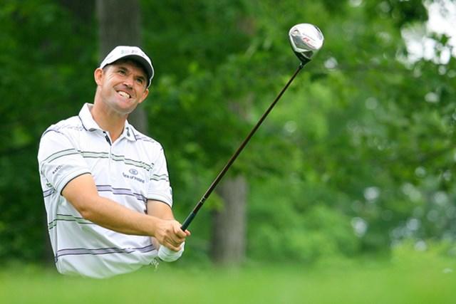 2009年 全米プロゴルフ選手権初日 パドレイグ・ハリントン 気合の入った顔なら、こっちも負けていません! 2位で追うP.ハリントン
