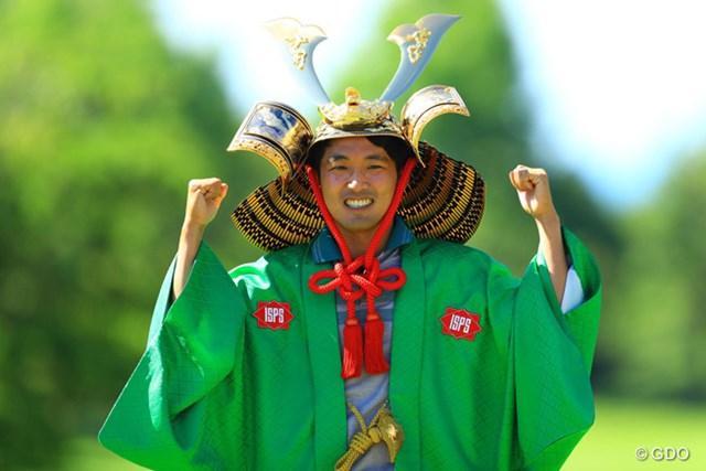 2016年 ISPSハンダグローバルカップ 最終日 朴ジュンウォン 朴ジュンウォンが優勝。両手でガッツポーズを見せた