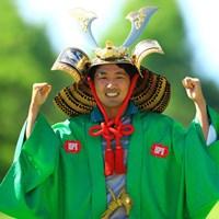 朴ジュンウォンが優勝。両手でガッツポーズを見せた 2016年 ISPSハンダグローバルカップ 最終日 朴ジュンウォン
