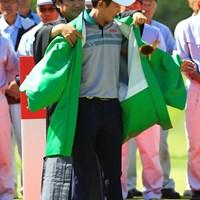 グリーンジャケットならぬ、グリーン羽織? 2016年 ISPSハンダグローバルカップ 最終日 朴ジュンウォン