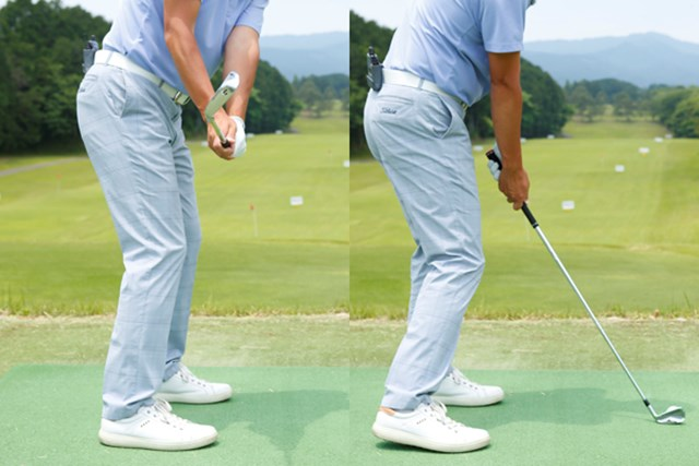 フェース面は前傾角度と同じ、またはスイングプレーンに対して垂直であることを意識してみよう