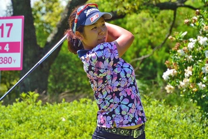 初日「67」をマークして首位発進とした小竹莉乃 ※画像提供:日本女子プロゴルフ協会 2016年 ECCレディス ゴルフトーナメント 初日 小竹莉乃