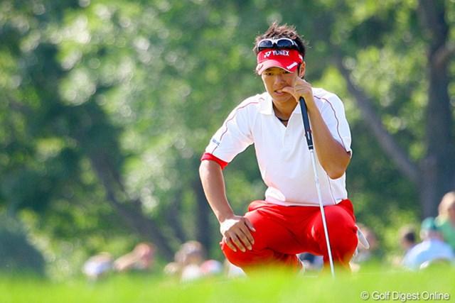 2009年 全米プロゴルフ選手権最終日 石川遼 序盤はパットが決まらず、思わず爪をカミカミ