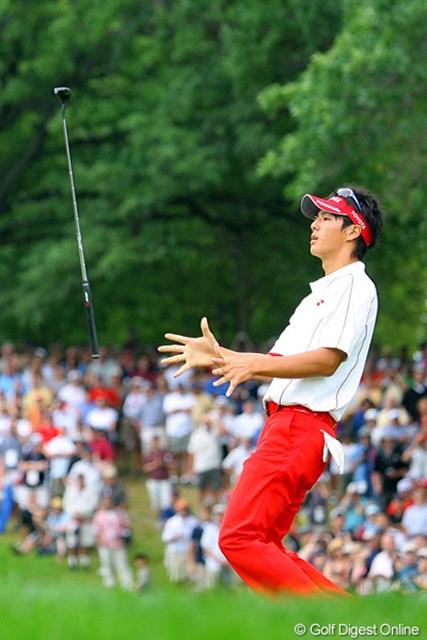 2009年 全米プロゴルフ選手権最終日 石川遼 パターをクルクル回転させるのも、1つのパフォーマンス?