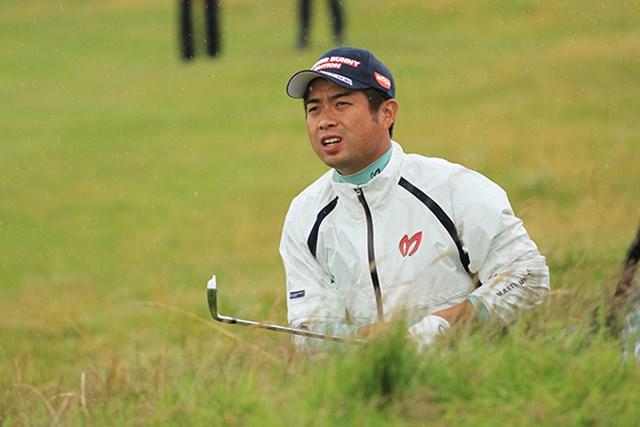 必死の形相でホールを進める池田勇太。5年ぶりに週末の海外メジャーに臨む