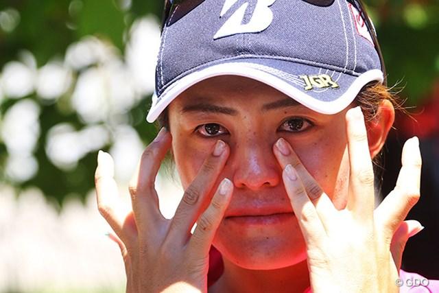 日本勢2番手に上がった渡邉彩香。リオ五輪出場を目指したが、わずか1週間届かなかった計算だ  ※撮影は2016年「全米女子オープン」最終日