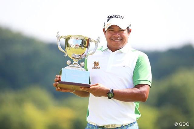 2016年 ダンロップ・スリクソン福島オープンゴルフトーナメント 事前 プラヤド・マークセン 昨年は最終日に3位から出たプラヤド・マークセン(タイ)が逆転優勝