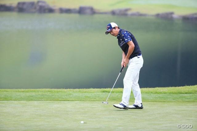 2016年 ダンロップ・スリクソン福島オープンゴルフトーナメント 初日 深堀圭一郎 首位に1打差の好スタート。深堀圭一郎は8バーディ、1ボギーで初日を終えた