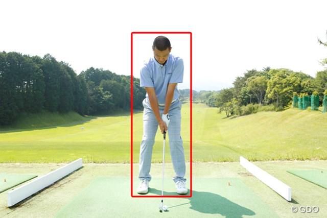 ゴルフスイングの基本をマスターした上で試行錯誤を楽しもう ~第12回~ 画像2 スイング中、ボックスから体が出ないこと