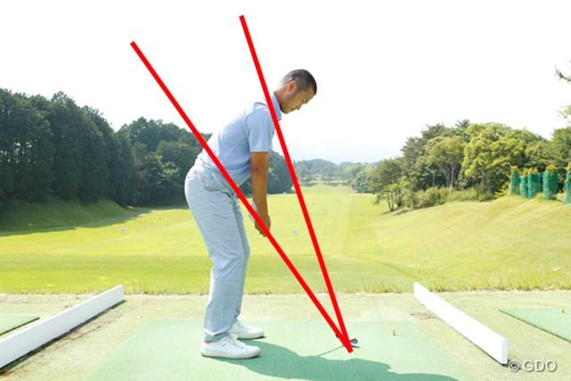 ゴルフスイングの基本をマスターした上で試行錯誤を楽しもう ~第12回~ 画像3 スイング軌道をチェックするときは、ダウンスイング時にVゾーンの間を通ること