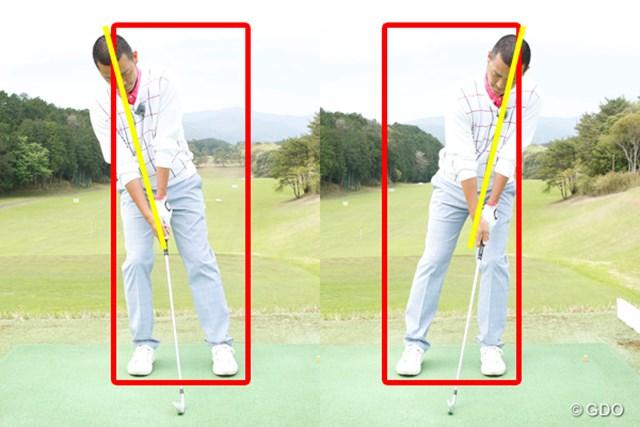 ゴルフスイングの基本をマスターした上で試行錯誤を楽しもう ~第12回~ 画像4 体重配分が偏っていると、スイング中にボックスからハミ出しやすい