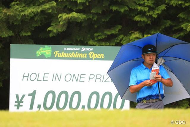 2016年 ダンロップ・スリクソン福島オープンゴルフトーナメント 初日 時松隆光 入れれば100万円そりゃ~ほしいわね~.jpg
