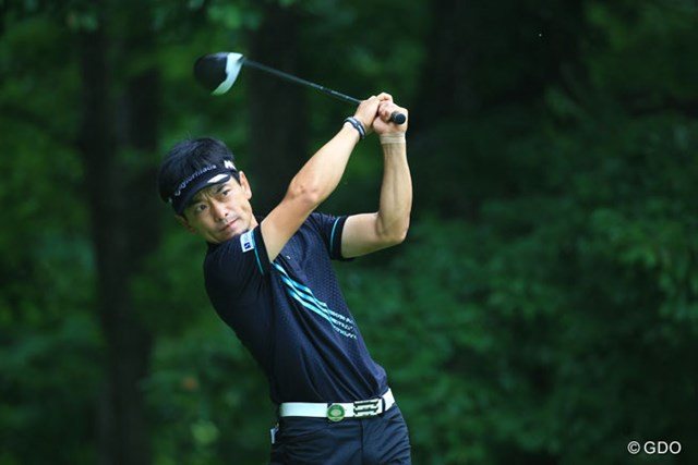 2016年 ダンロップ・スリクソン福島オープンゴルフトーナメント 初日 竹谷佳孝 ちっこい体なのに頑張ってます6アンダー5位タイ