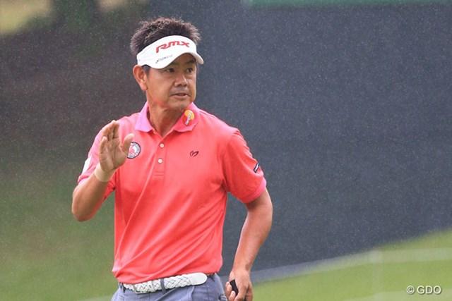 2016年 ダンロップ・スリクソン福島オープンゴルフトーナメント 初日 藤田寛之 さすがベテラン午後組スタートで追い上げて6アンダー