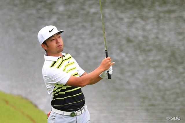 2016年 ダンロップ・スリクソン福島オープンゴルフトーナメント 2日目 時松隆光 22歳の時松隆光が1打差の2位で決勝ラウンドに進んだ