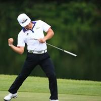 かっこいい~最終ホールバーディー 2016年 ダンロップ・スリクソン福島オープンゴルフトーナメント 2日目 キム・ボンソプ