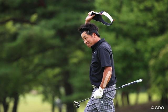 2016年 ダンロップ・スリクソン福島オープンゴルフトーナメント 最終日 岩本高志 プロ19年目での初勝利はつかめなかったが、岩本高志はシード奪取へきっかけとなる2位