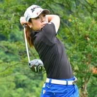 2日間大会の初日に首位タイでスタートした槇谷香※日本女子プロゴルフ協会提供画像 2016年 カストロールレディース 初日 槇谷香