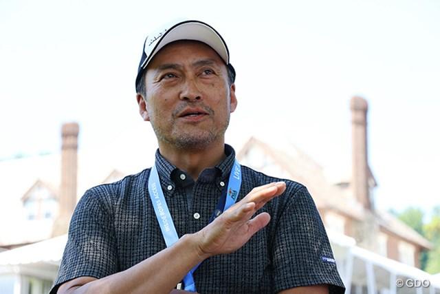 2016年 全米プロゴルフ選手権 事前 渡辺謙さん 今週は渡辺謙さんが松山英樹に密着。世界を知る渡辺さんのサポートが心強い