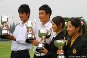 2009年 日本ジュニア 最終日 優勝者