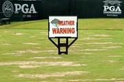 2016年 全米プロゴルフ選手権 3日目 看板 中断