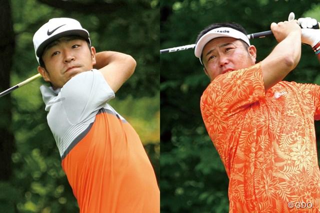 2016年 ネスレインビテーショナル 日本プロゴルフマッチプレー選手権 レクサス杯 最終日 時松隆光(左)&小田龍一 決勝戦は時松隆光(左)と小田龍一の対決に。1億円をかけた最終マッチに臨む