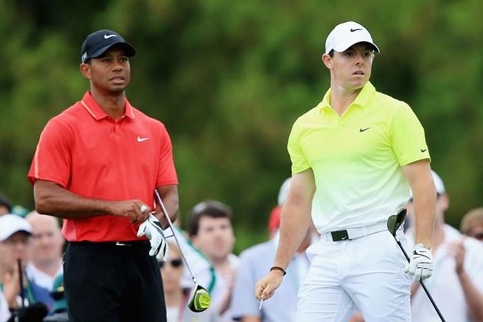 ナイキがゴルフ用具事業から撤退。タイガー・ウッズ(左)、ロリー・マキロイらの動向は(David Cannon/Getty Images) ナイキゴルフ