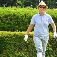 6アンダーの単独トップで最終日を迎える足立由美佳 ※日本女子プロゴルフ協会提供画像 2016年 九州みらい建設グループレディ-スゴルフト-ナメント 初日 足立由美佳