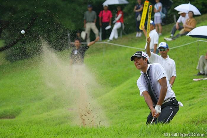 バックナインで5ボギーと崩れた富田雅哉は6位でフィニッシュ 2009年 関西オープンゴルフ選手権競技 最終日 富田雅哉