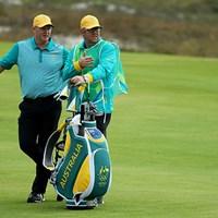 112年ぶりの五輪ゴルフで初日首位に立ったマーカス・フレイザー。片山晋呉と同組のプレーだった(Scott Halleran/Getty Images) 2016年 リオデジャネイロ五輪 初日 マーカス・フレイザー