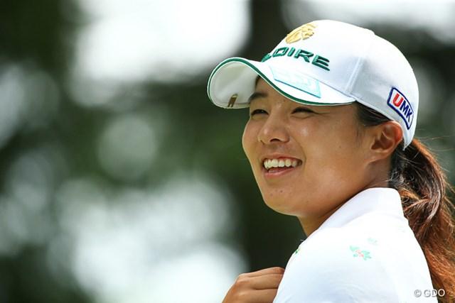 2016年 NEC軽井沢72ゴルフトーナメント 2日目 永峰咲希 笑顔もたまらんのです