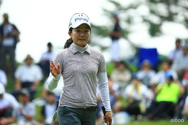 2016年 NEC軽井沢72ゴルフトーナメント 2日目 上原彩子 彼女もノーボギーの6バーディーで一気に首位!