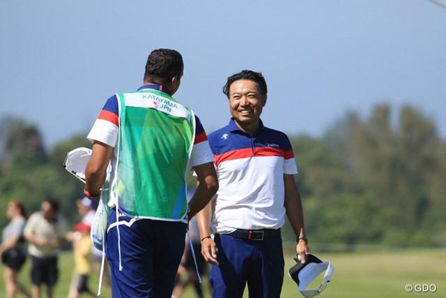 最終日を「66」で回って笑顔でオリンピックを締めくくった片山晋呉
