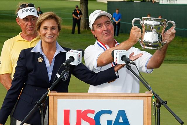 レギュラーツアーで3勝のサワーズが「全米シニア」でシニア初優勝を果たした(Gregory Shamus/Getty Images)