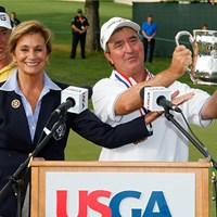 レギュラーツアーで3勝のサワーズが「全米シニア」でシニア初優勝を果たした(Gregory Shamus/Getty Images) 2016年 全米シニアオープン選手権 最終日 ジーン・サワーズ