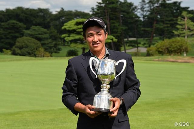2016年 日本ジュニアゴルフ選手権 小斉平優和 36ホール短縮競技を制した小斉平優和。最後のダボには「あれじゃダメ」と舌を出した