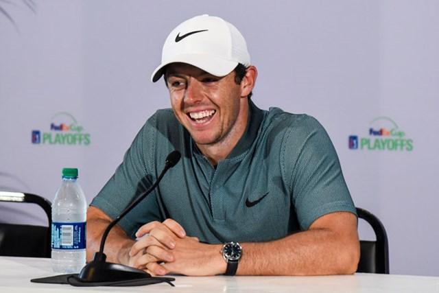 「ザ・バークレイズ」の公式会見に出席したマキロイ(Keyur Khamar/PGA TOUR/Getty Images)