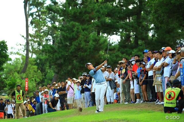 2016年 RIZAP KBCオーガスタゴルフトーナメント 初日 石川遼 平日の初日にも関わらず、遼くん組には多くのギャラリー。
