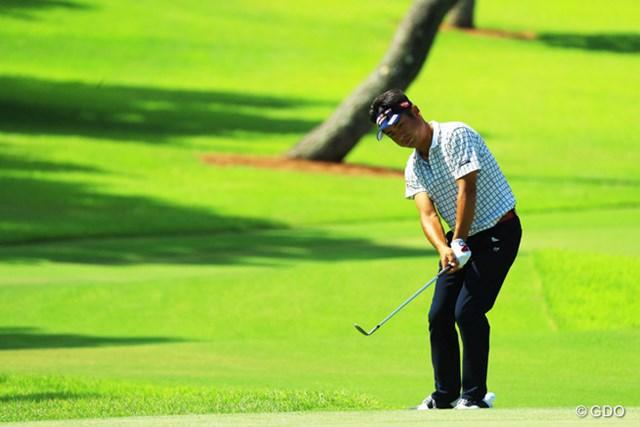2016年 RIZAP KBCオーガスタゴルフトーナメント 初日 池田勇太 前年優勝者の池田勇太は3アンダーの29位。首位と3打差で滑り出した