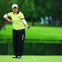 朝の厳しい天気にスコアを落としていった 2016年 ニトリレディスゴルフトーナメント 2日目 前田陽子