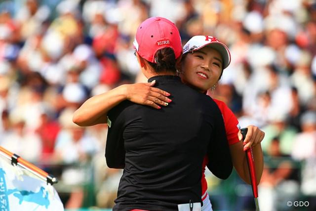 2016年 ニトリレディスゴルフトーナメント 最終日 イ・ボミ イ・ボミはプレーオフで笠りつ子に敗れた。得意な一騎打ちで宿敵に連敗