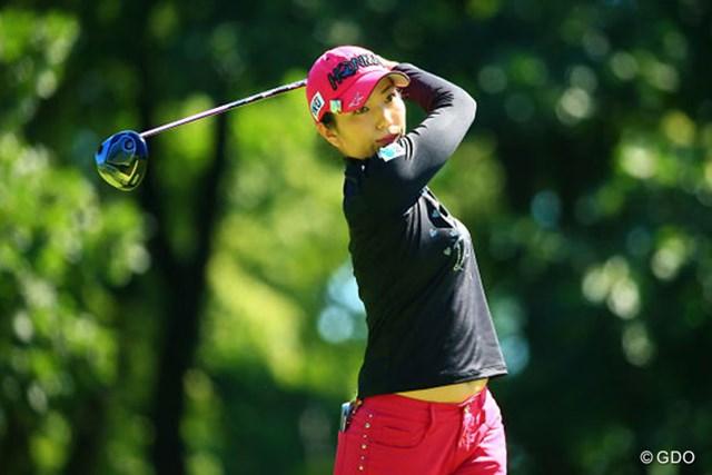 2016年 ニトリレディスゴルフトーナメント 最終日 笠りつ子 今季2勝目を挙げた笠りつ子。「振りぬける」と自信のショットで勝ち切った