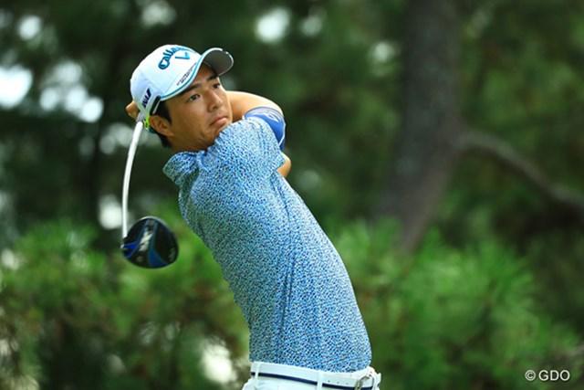 『RIZAP KBCオーガスタゴルフトーナメント』初日の石川遼。ソールに2つのウエイトがあるのが確認できる