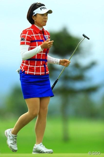 2016年 ゴルフ5レディス プロゴルフトーナメント 最終日 大山志保 バックナインでは4連続バーディなどでスコアを伸ばし、12位タイフィニッシュです。