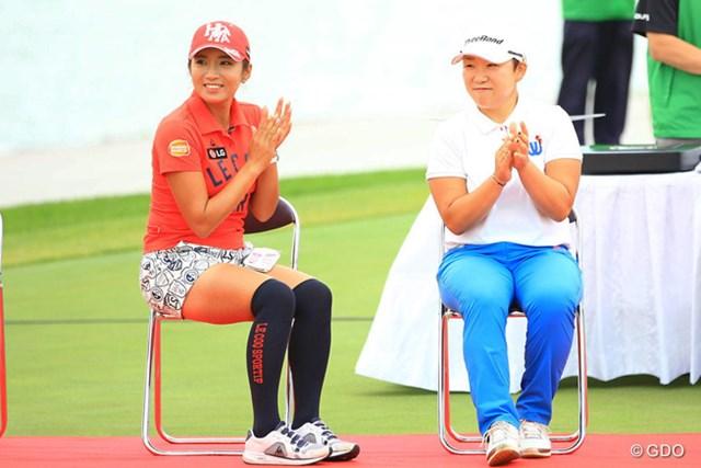 2016年 ゴルフ5レディス プロゴルフトーナメント 最終日 イ・ボミ、申ジエ 今日は優勝を逃した2人ですが、これからも2人を中心に女子ツアーが回って行くのでしょうねぇ。